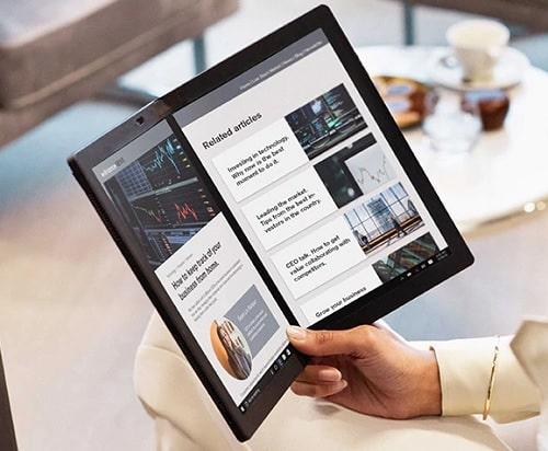 Lenovo ThinkPad X1 Fold 画面を2分割表示
