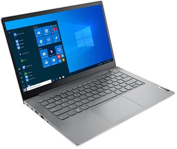 Lenovo thinkBook 14 Gen 2の外観 左斜め前から