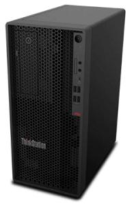 Lenovo ThinkStation P340 Towerの筐体・右斜め前から