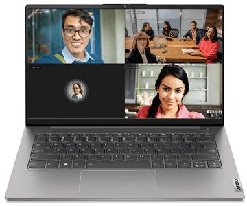 Lenovo ThinkBook 14 Gen 2 AMD ビデオ会議の様子