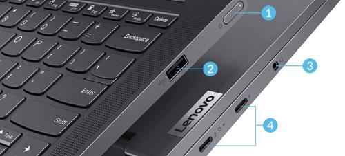 Lenovo Yoga 750i 14型のインターフェイス