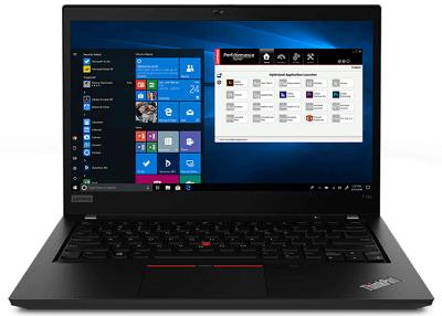 Lenovo thinkpad P14sの外観 正面