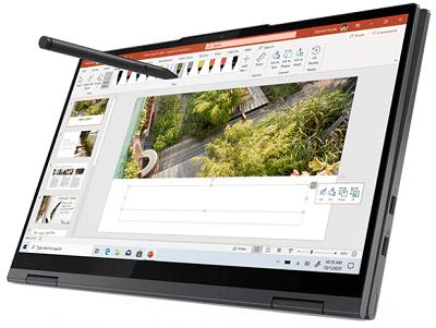 Lenovo Yoga 750i(第11世代CPU)の外観 タブレットモード