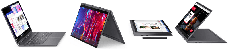 Lenovo Yoga 750i(第11世代CPU)の外観 2 in 1 PC