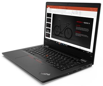 Lenovo ThinkPad L13 Gen 2の外観 右斜め前