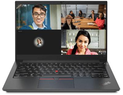 Lenovo ThinkPad E14 Gen 2 インテルの外観 ビデオ電話をしているところ