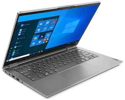 Lenovo ThinkBook 14s Yogaの外観 左斜め前から