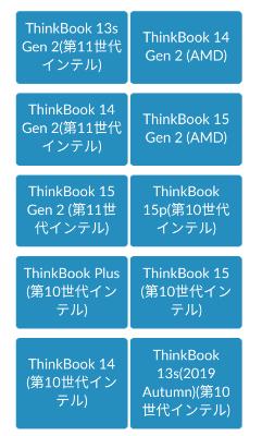 Thinkbookの型番