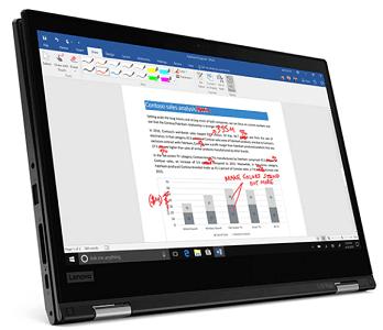 Lenovo ThinkPad L13 Yoga Gen 2 の外観 タブレットモード
