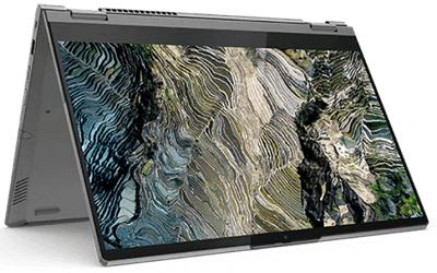 Lenovo ThinkBook 14s Yoga テントモード
