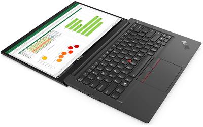 Lenovo ThinkPad E14 Gen 2 インテルの外観 180度開いた状態