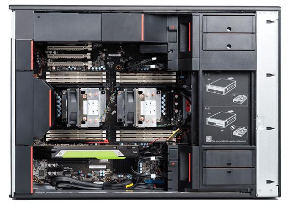 Lenovo ThinkStation P920の筐体内部