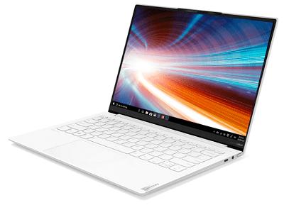 Lenovo Yoga Slim 750i Carbonの外観 右斜め前から