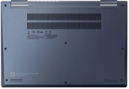 Lenovo ThinkPad C13 Yoga Chromebookの底面