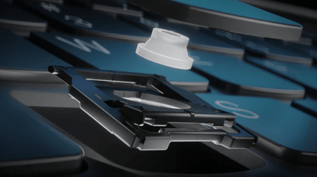 Lenovo Legion Slim 750iのキーボード ソフトラバーランディングスイッチ