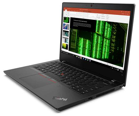 Lenovo ThinkPad L14 Gen 2 右斜め前から
