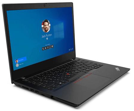 Lenovo ThinkPad L14 Gen 2 左斜め前から