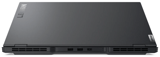 Lenovo Legion Slim 750i 天板と背面のインターフェイス