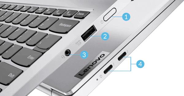 Lenovo Yoga Slim 750i Proのインターフェイス