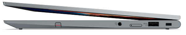 Lenovo ThinkPad X1 Yoga Gen 6 半分開いた状態の右側面
