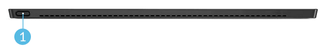 Lenovo ThinkPad X12 Detachableのキーボードにある電源ボタン
