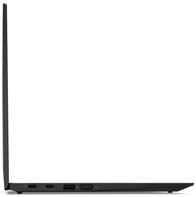 Lenovo ThinkPad X1 Carbon Gen 9 開いた状態の左側面