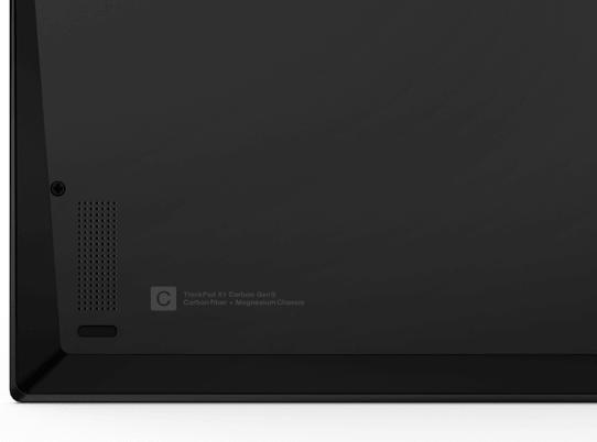 Lenovo ThinkPad X1 Carbon Gen 9 底面にあるウーファー