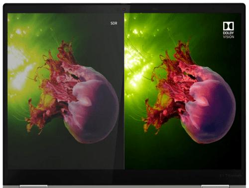 Lenovo ThinkPad Titaniumのディスプレイ Dolby Visionオン