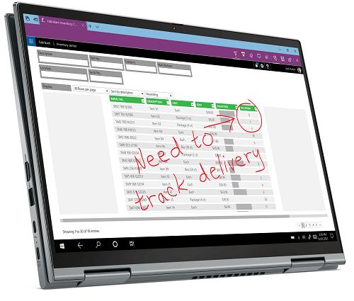 Lenovo ThinkPad X1 Yoga Gen 6 タブレットモード