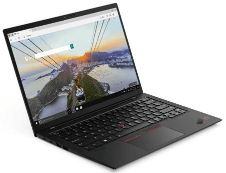 Lenovo ThinkPad X1 Carbon Gen 9の外観 左斜め前から