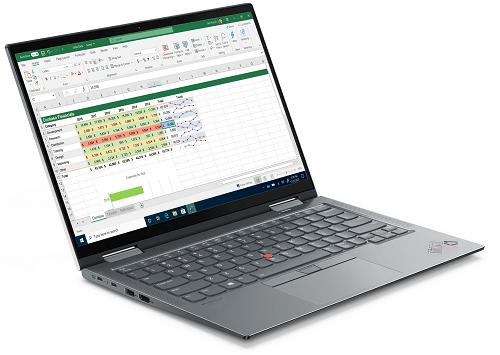 Lenovo ThinkPad X1 Yoga Gen 6 左斜め前から