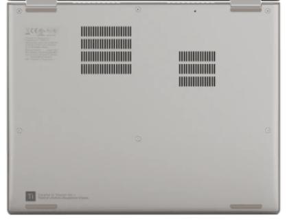 Lenovo ThinkPad Titaniumの底面
