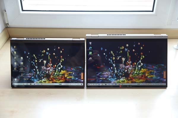 Lenovo IdeaPad Flex 550 15.6型(AMD Ryzen 5000シリーズ) とFex 550i 14型の比較
