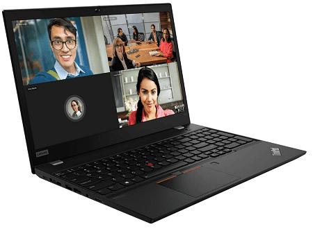 Lenovo ThinkPad T15 Gen 2 左斜め前から
