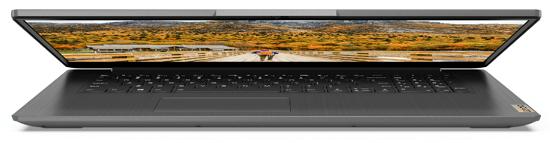 Lenovo IdeaPad Slim 360(17) ディスプレイを半分閉じた状態の正面から