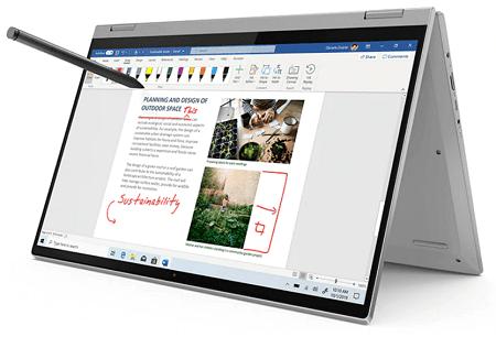 Lenovo IdeaPad Flex 550 15.6型(AMD Ryzen 5000シリーズ) テントモード