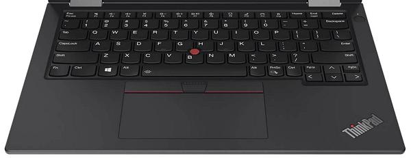 Lenovo ThinkPad X13 Yoga Gen 2のキーボード