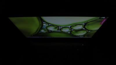 Lenovo ideapad slim 360(17)のディスプレイ視野角 上から