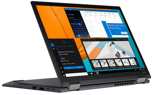 Lenovo ThinkPad X13 Yoga Gen 2の外観 スタンドモード