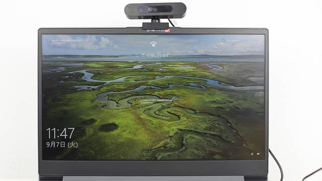 Lenovo IdeaPad Slim 360(17) 顔認証カメラを接続