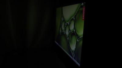 Lenovo ideapad slim 360(17)のディスプレイ視野角 横から