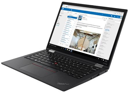 Lenovo ThinkPad X13 Yoga Gen 2の外観 右斜め前から