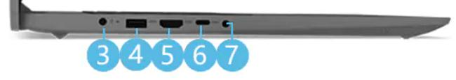 Lenovo IdeaPad Slim 360i(17) 左側面インターフェイス