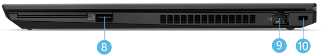 Lenovo ThinkPad T15 Gen 2 右側面インターフェイス