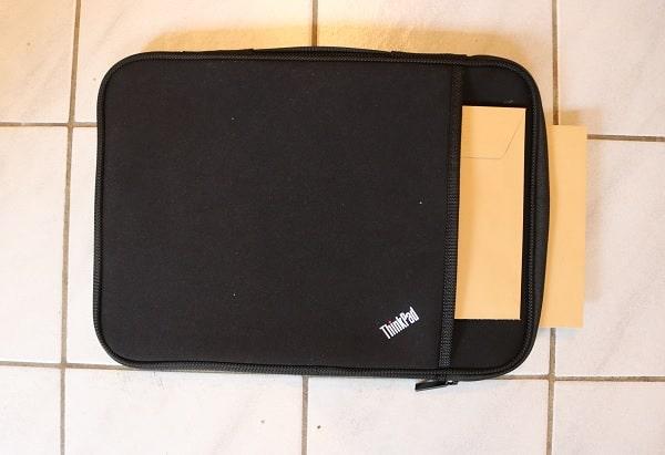 ThinkPad 13インチ スリーブケース 耐水性テスト
