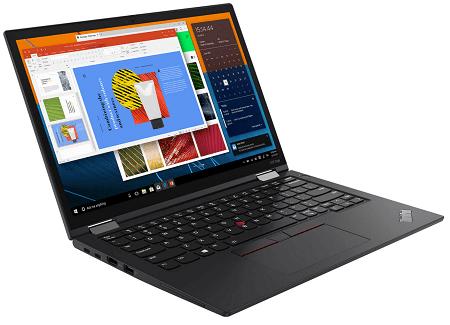 Lenovo ThinkPad X13 Yoga Gen 2の外観 左斜め前から