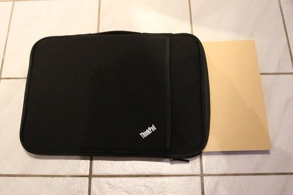 ThinkPad 13インチ スリーブケース 撥水性・耐水性のテスト