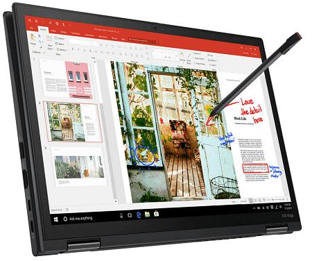 Lenovo ThinkPad X13 Yoga Gen 2の外観 タブレットモード