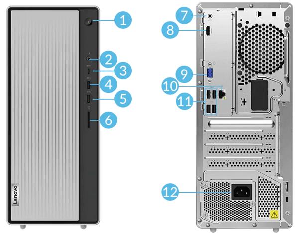 Lenovo IdeaCentre 560i インターフェイス