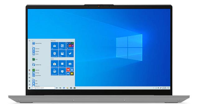 Lenovo IdeaPad Slim 550 15(AMD Ryzen 5000シリーズ)の外観 正面
